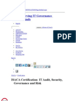 ISACA Certification IT Audit- Security- Governance and Risk