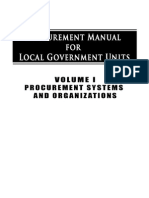 Procurement Manual for LGUS - Procurement System & Organizations