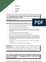 Relaçao de documentos para visto de residencia
