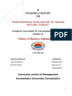 54073147 Research Report on Performance Evaluation of Indian Mutual Funds