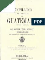 Recopilacion de Las Leyes de Guatemala 1869