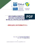 BROSURA INFORMATIVA -  PROIECT  - 2012