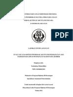 Evaluasi Atas Sistem Informasi Akuntansi Pendapatan Asli Daerah Pada Dinas Pendapatan Kabupaten Jember