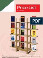 Price List_August 2012