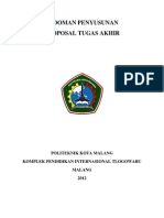 Pedoman Penulisan Proposal Ta Proditt 2012