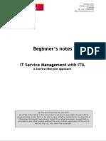 c. ITIL IT Service Management Beginners Guide v7.1
