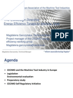 Energy Efficient Targets for Machine Tools
