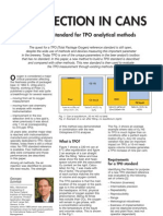 AIR INJECTION IN CANS, A reference standard for TPO analytical methods