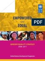 UNDP gender equality strategy 2008-2011