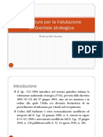 Procedure Per La Valutazione Ambientale Strategica