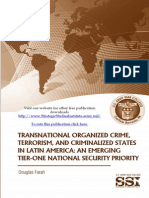 Transnational Organized Crime, Terrorism, And Criminalized States In Latin American