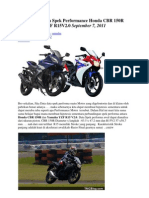 Membandingkan Spek Performance Honda CBR 150R Dan Yamaha YZF