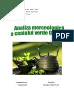 79172109 Analiza Merceologic Ceaiul Verde Si Negru