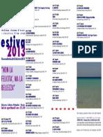 Cinema sotto le stelle Programma 2013