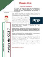 Newsletter di MAGGIO 2013 del Gruppo Consiliare PD di Zona 7-Milano