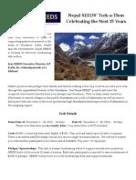 Nepal SEEDS Trek-a-Thon Information Sheet