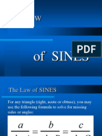 Laws of Sines