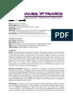 James 'JP' Pearce - Media Profile, 2013