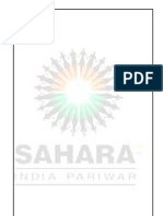 SAHARA INDIA PARIWAR summer training report