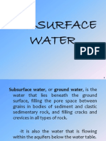 Subsurface Water Presentation