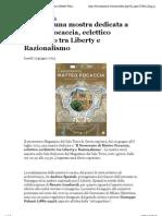 17.6.2013, 'a Cervia Una Mostra Dedicata a Matteo Focaccia, Eclettico Architetto Tra Liberty e Razionalismo', Cervianotizie