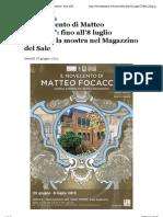 28.6.2013, 'Il Novecento Di Matteo Focaccia. Fino All'8 Luglio Continua La Mostra Nel Magazzino Del Sale', Cervianotizie