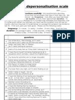 Assessment, Depersonalization, t