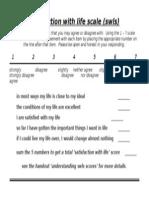 Assessment, Diener Swls