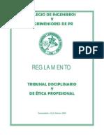 REGLAMENTO Tribunal Disciplinario