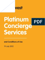 Platinum Concierge Services and Conditions of Use