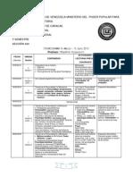 Cronograma Psicologia General, Trabajo Social 2012-1