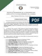Communique Final CEDEAO Abidjan 19 Jan 13 Fr
