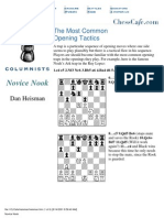 Dan Heisman - Most Common Opening Tactics - Chess