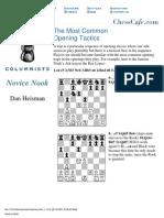 Dan Heisman - Most Common Opening Tactics - Chess