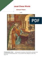 Edward Winter - Unusual Chess Words