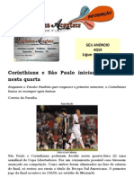 Corinthians e São Paulo iniciam a Recopa nesta quarta