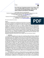 Application of Carbon-Nitrogen Supplementation From Plant and Animal Sources in in-Situ Soil Bioremediation of Diesel Oil- Experimental Analysis and Kinetic Modelling