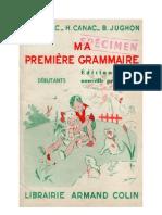 136856353 Langue Francaise Grammaire CE1 Ma Premiere Grammaire Auriac Canac Jughon