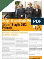 """""""Volantone"""" primarie centrosinistra Trentino"""