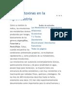 Las Micotoxinas en La Agroindustria