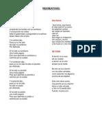 Canciones Civicas Recreativas y Folcloricas