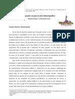 Levin F Franco M El Pasado Cercano en Clave Historiografica