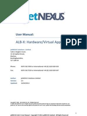 jetnexus ALB-X-User-Guide-v2 5 | Load Balancing (Computing