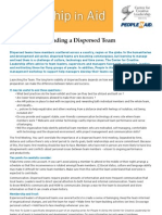 How to Guide How to Lead a Dispersed Team