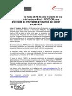 Ampliación de fecha concursos FIDECOM