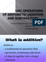 Four Basic Operations of Arithmetic