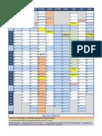 Calendario Escolar Excel 2013 14