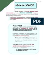 24.06.13.CAMPAÑA PSOE CAMBIA LA LOMCE