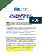 Coaching ontológico y coordinación de equipos