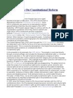 UNP Proposals on Constitutional Reform